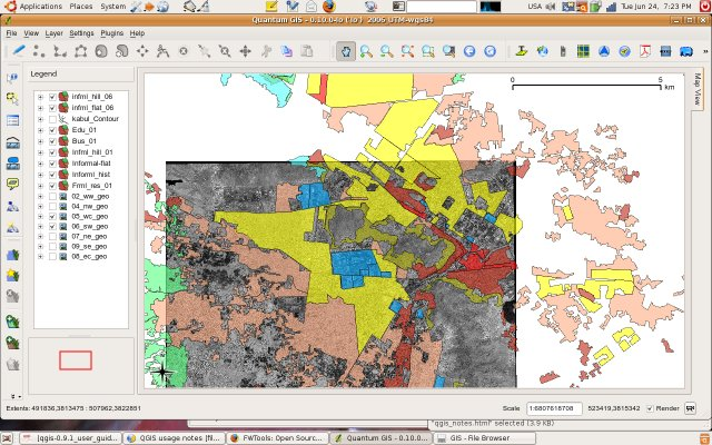 A multilayered project in QGIS