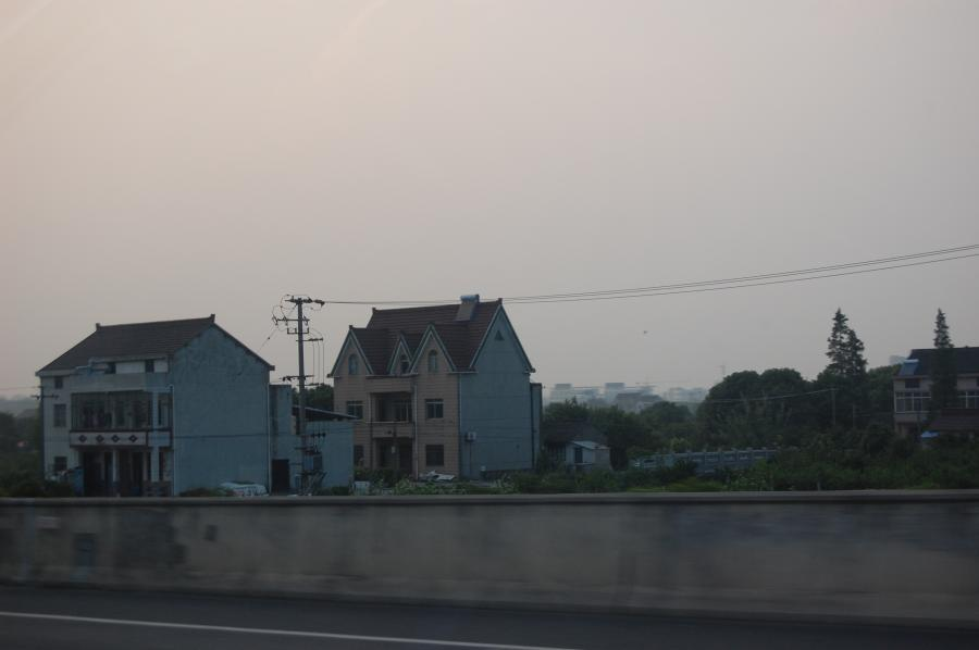 Middle-class housing along highway south of Shanghai