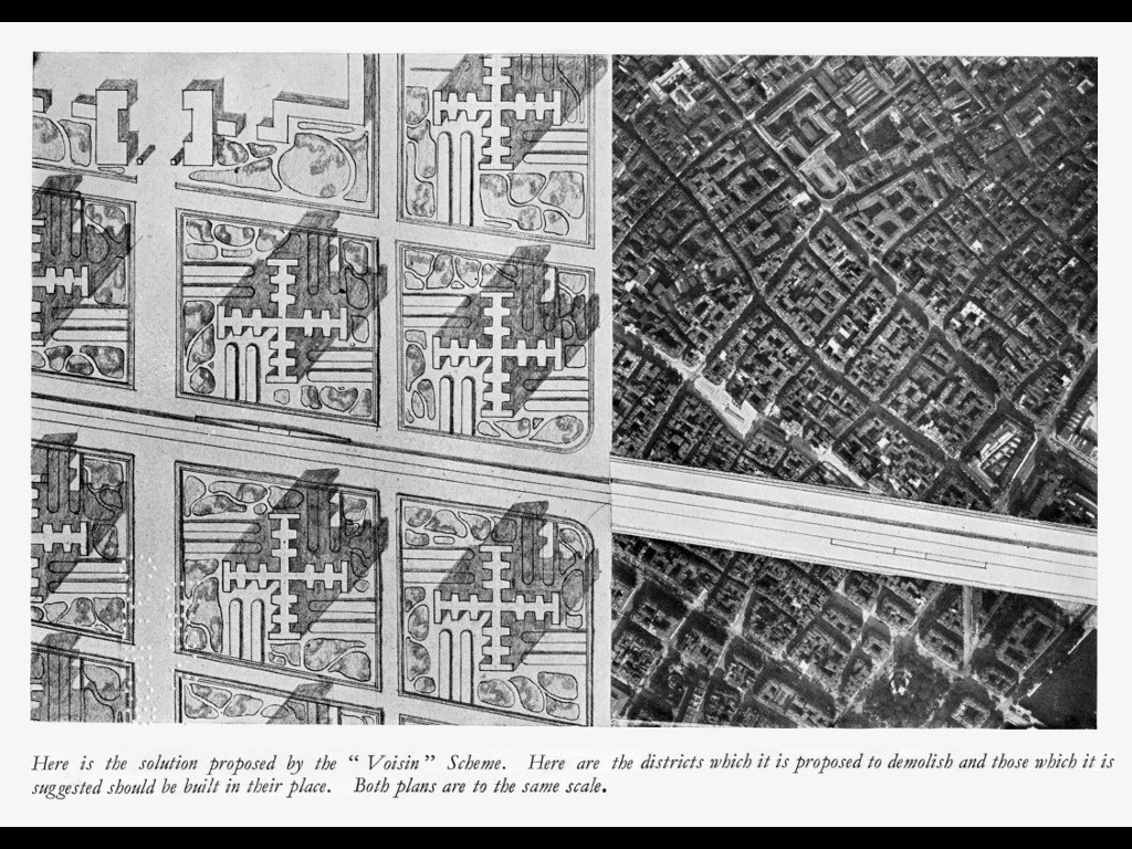 Voisin Plan, exibited in 1925. Perhaps deliberately provocative, this image has been used for decades to categorically oppose high-rise urbanism.