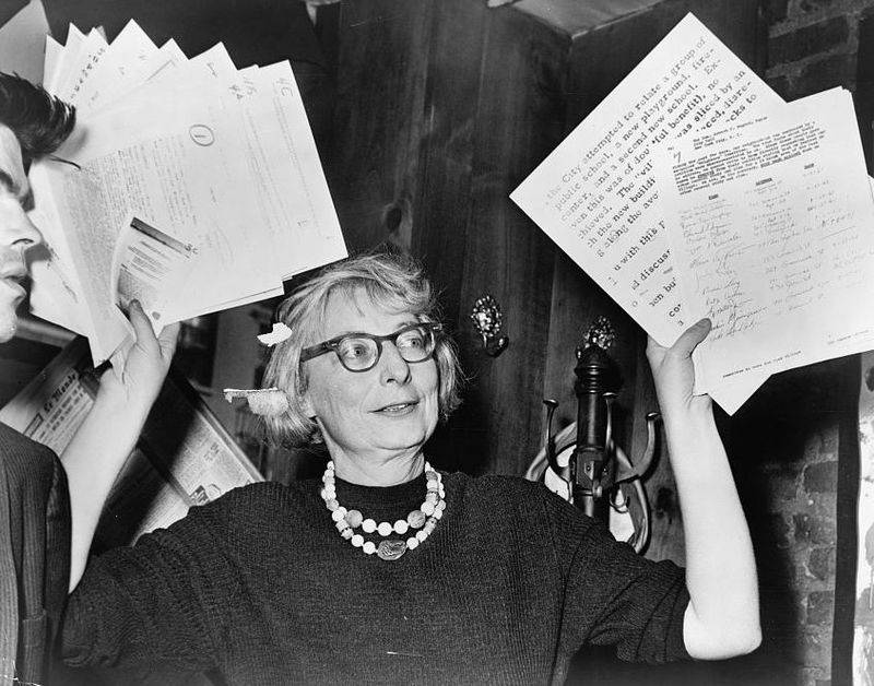 Jane Jacobs in 1961, photo by Phil Stanziola